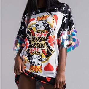 Akira King of Hearts T-shirt dress